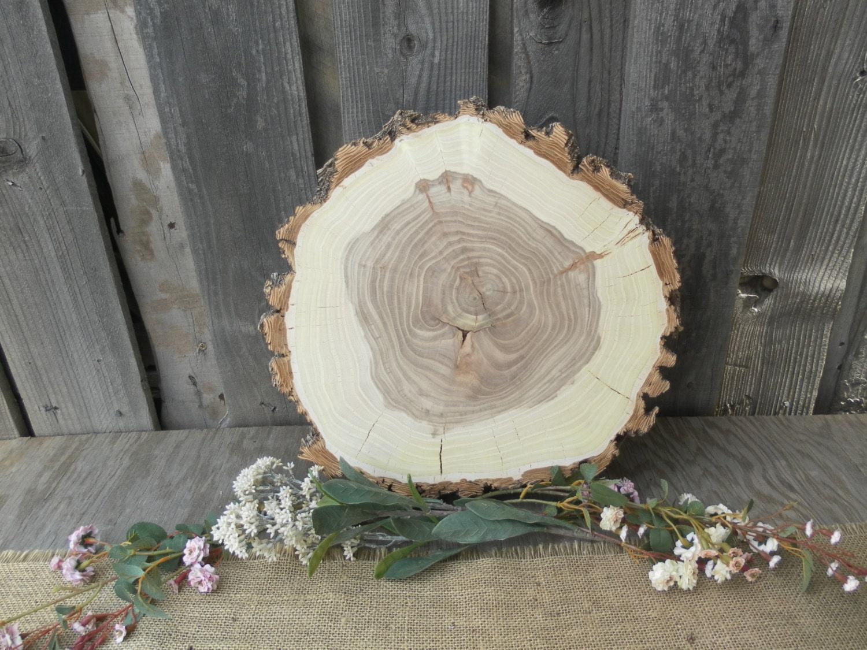 13 x 14 Wood Slice Rustic Wedding Cake Stand
