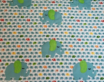 Elephant themed baby free motion quilt