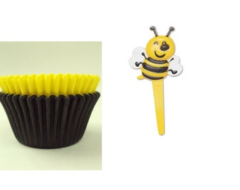 Bee Picks with 12 Baking Cups