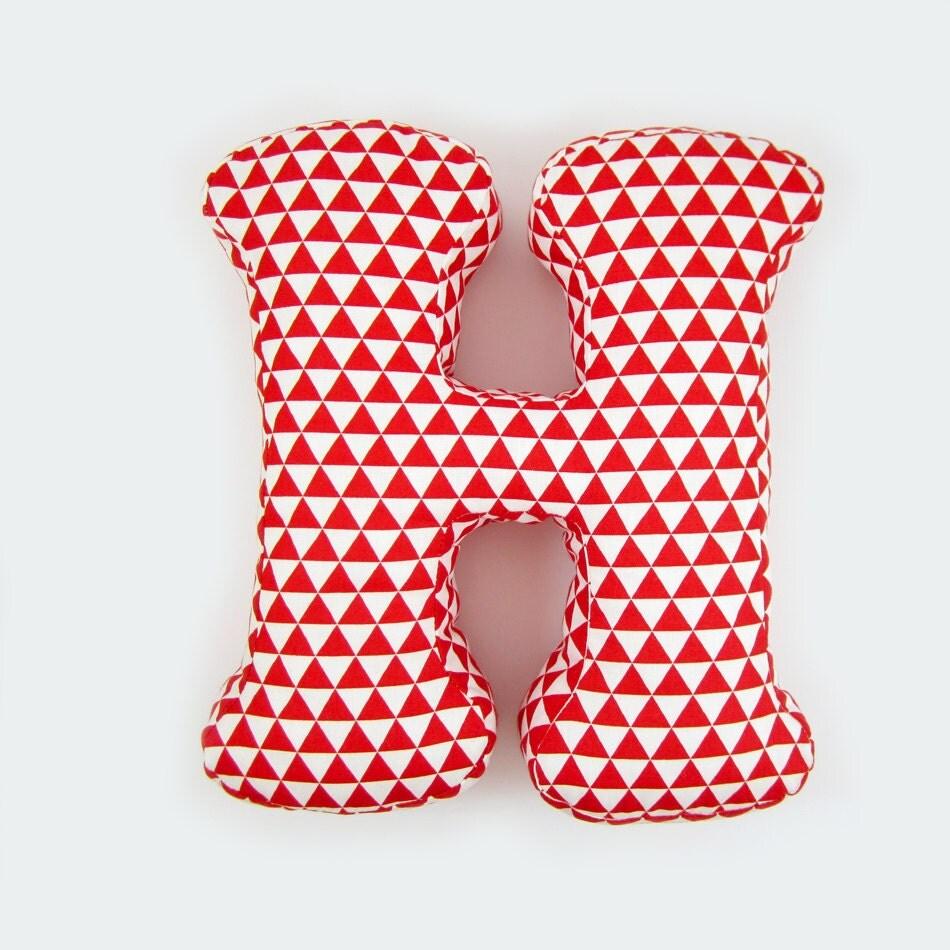 Alphabet Pillow Letter H Alphabet Pillows Initials Letter