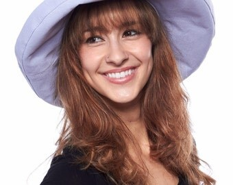 Mist Bow Cotton Sun Hat, LIght Purple Bow, Aruba Hat, Pale PUrple Hat, Pretty Hat, Beach Hat, Cotton Sun Hat, Seaside Hat, Lavender Hat