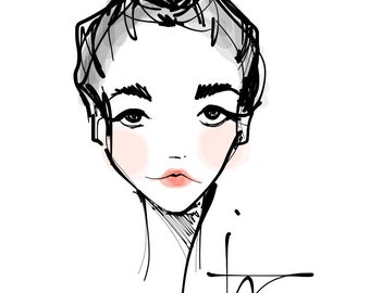 Rosy Cheeks - Fashion Illustration Portrait