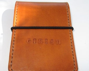 Personalized  Leather note book Cover, notepad notebook.