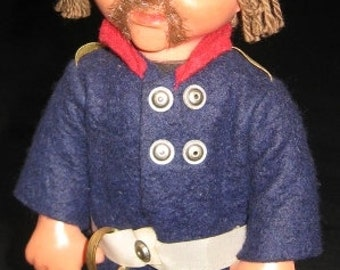 Vintage ETHNIC DOLL-Russian/Cossack Military Doll-Toy-Decoration