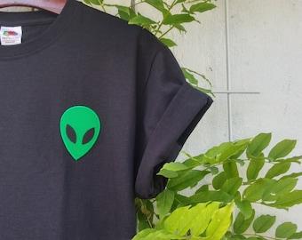 Acid Alien Tumblr Shirt, grunge, pale