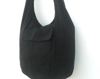 Shoulder Bag Bohemian Bag Messenger Bag Crossbody Bag Sling Thai Hippie Hobo Bag Boho Purse Black Color Sling Gift Bag