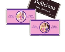 Barbie Candy Wrappers  – Digital Download – Chocolate Bar Wrapper - Barbie Party