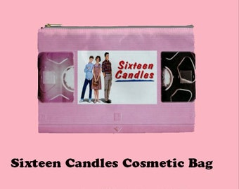 Sixteen Candles Cosmetic Bag, Cosmetic Bag, Make Up Bag, 80's, 80's films,  molly ringwald, breakfast club, sixteen candles