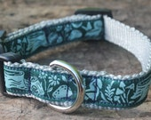 For Brooke: Night Forest Dog Collar—Small adjustable ribbon dog collar