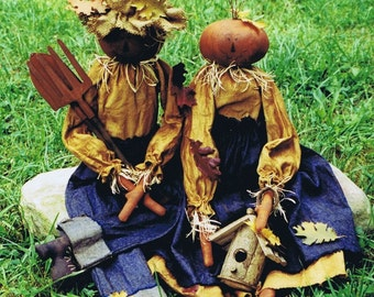 Primitive Pumpkin Doll Pattern Fall and Halloween E Pattern
