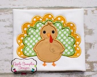 Thanksgiving Turkey Applique Machine Embroidery Design, Boy, Girl, Fall, Pumpkin, Autumn, 4x4, 5x7, 6x10, 9x9