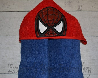 READY TO SHIP Web Hero Children's Hooded Towel