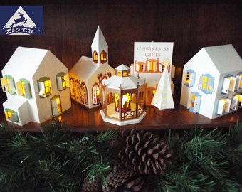 SVG 3D CHRISTMAS VILLAGE