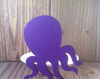 15 Octopus Die Cuts - Diy Garland - Banners - Craft Supplies - Party Supplies - diy
