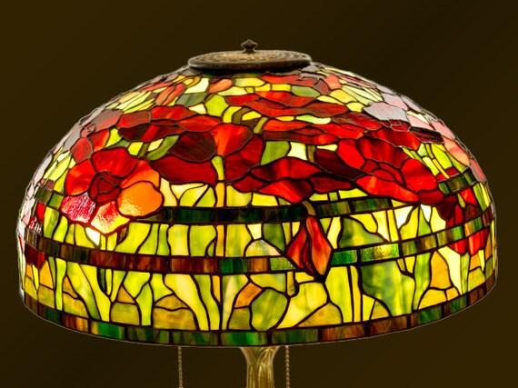 Oriental Poppy lamp