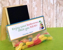 PRINTED Bookworm Treat Toppers for Students!