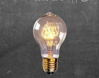 Edison Bulb, 40W Vintage A19 Nipple