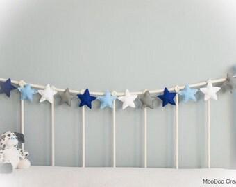 Star Garland - felt star garland - star bunting - felt garland - nursery decor - children's decor - photo prop - handmade - MADE TO ORDER