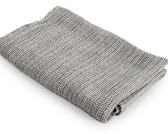 Linen bath towel, organic, gray, striped towel, big bath towel, small bath towel, hand towel, face towel, body towel, bath towel set, beach