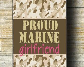 Proud Marine Girlfriend iPhone 6 Plus Case, Marine Girlfriend iPhone 5c,