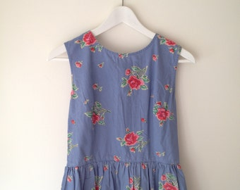 90's Denim floral dress.