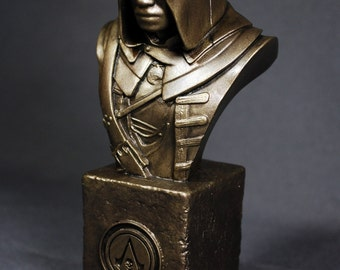 Custom Sculpted ADEWALE ASSASSIN'S CREED Faux Bronze Bust | 6.30 inches | 16.0 cm