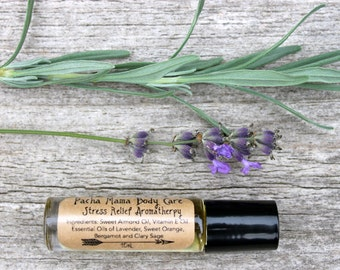 Stress Relief Aromatherapy Roll On • All Natural • Essential Oils • Anxiety • Organic Body Care • Vegan