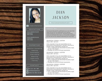 sale fresh graduate resume template instant download