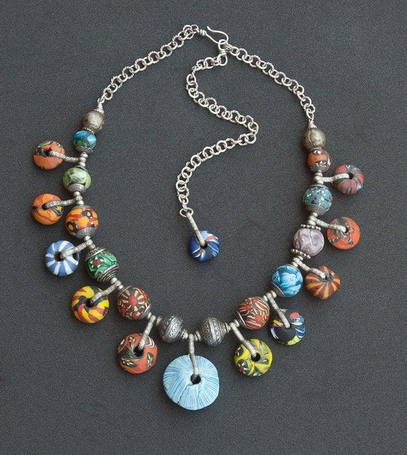 African Beaded Necklace Antique Trade Beads by ...