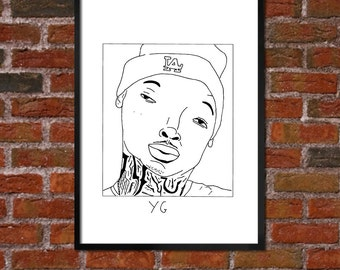 Badly Drawn YG - Hip Hop Poster - *** BUY 4, get a 5th FREE***