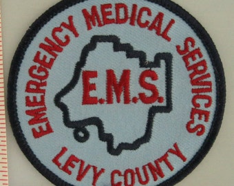 Levy County Emergency Medical Services Sew On Patch - EMS Sew-On Patch - Paramedic Sew On Patch - Embroidered Applique Patch