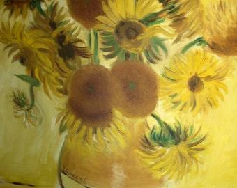An original Copy of Van Gogh's Sunflowers