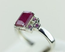SIZE 6.5 AFRICAN RUBY (Nickel Free) 925 Fine S0LID Sterling Silver Ring & Free Worldwide Express Shipping r618