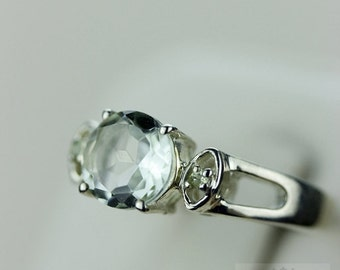 Size 5 GREEN AMETHYST PERIDOT (Nickel Free) 925 Fine S0LID Sterling Silver Ring & Free Worldwide Express Shipping r630