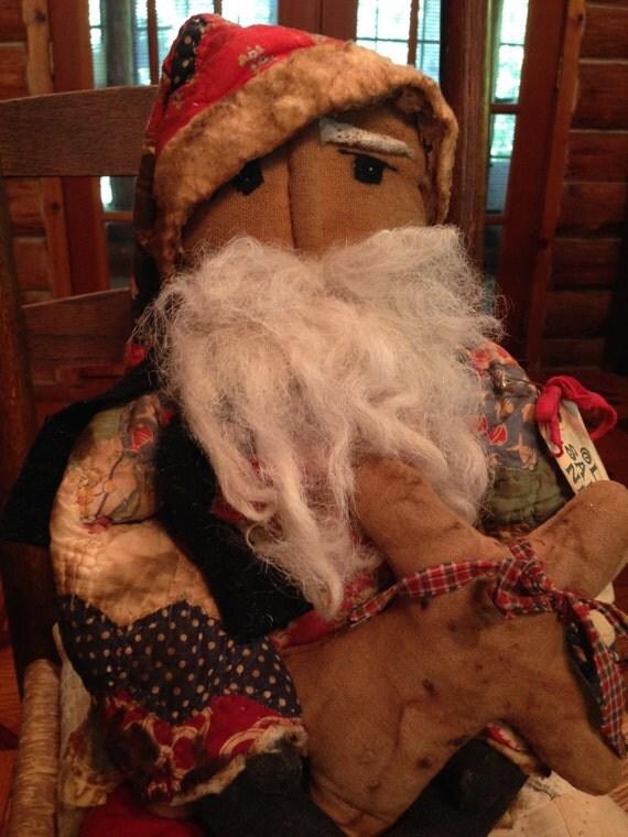 Large Primitive Santa Doll Handmade Santa By Thepokeypoodle