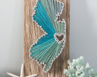 New Jersey Driftwood String Art