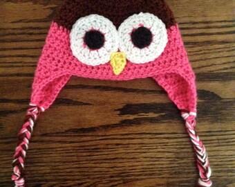 Soft Crochet Owl Hat