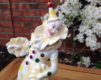 Coalport, Yellow Polka Dot figurine Cavalcade of Clowns