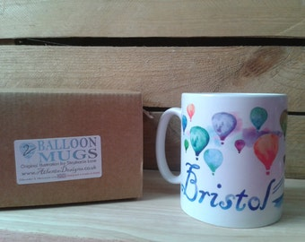 Hot Air Balloon BRISTOL Mugs