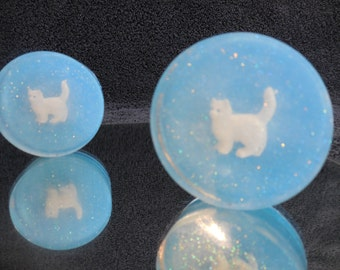 Here Kitty Kitty Soaps - Party Favor - Cat Soap - Kitten - Kittie - Animal - Kids Novelty Soap - Childrens Handmade Gift - Guest Soap - 5 pk