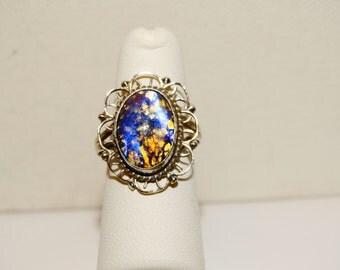 Vintage Sterling marked Purple Ring.