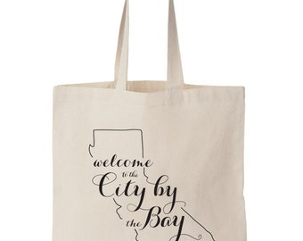 San Francisco CA, Wedding Welcome Tote Bag
