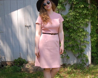 1960s perfect pink sheath dress