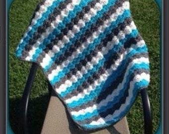 Crocheted Shell Stitch Baby Blanket