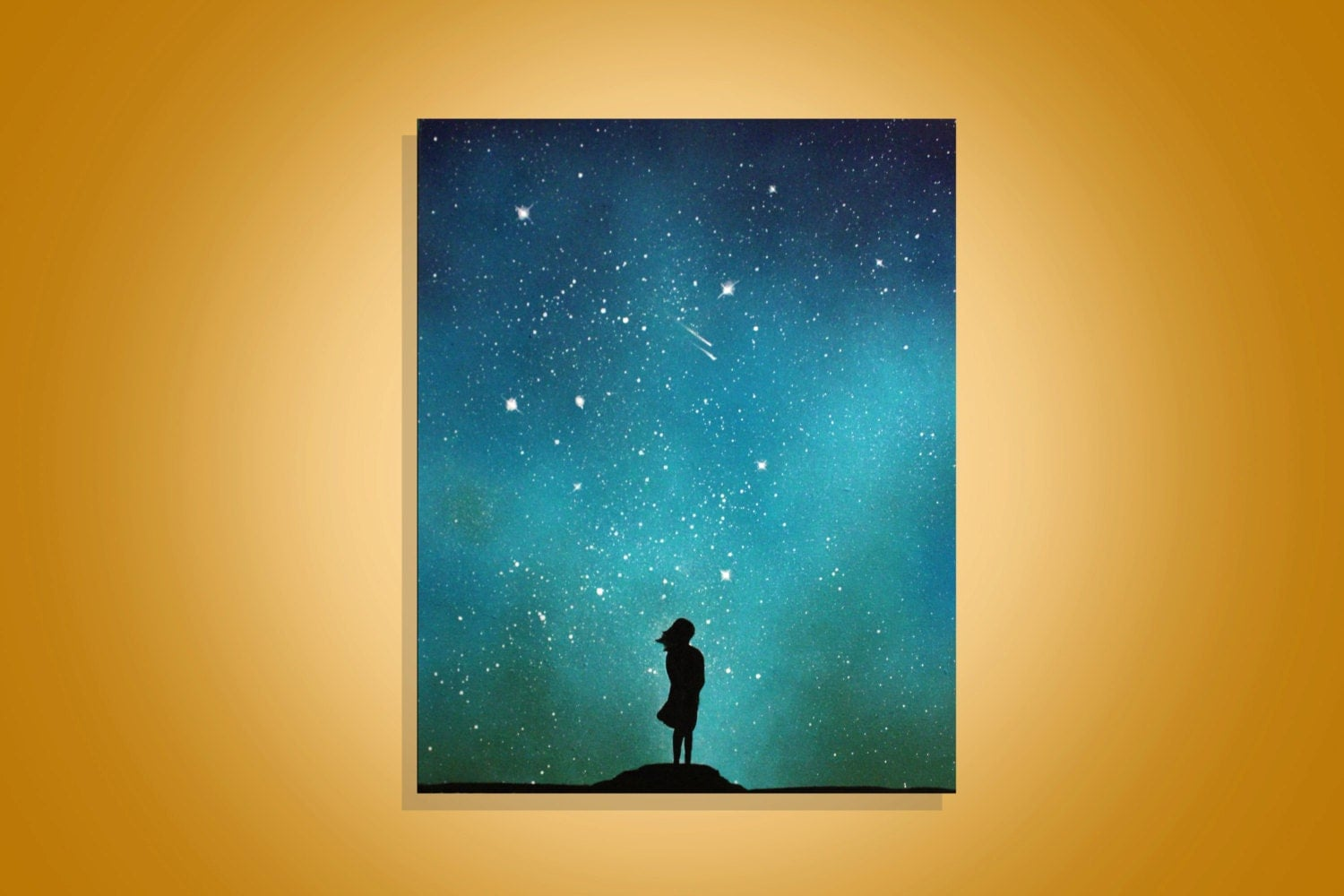 little girl space art inspirational wall art painting. Black Bedroom Furniture Sets. Home Design Ideas