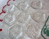 Darling Retro Flower Themed Glass Coasters, 8-Piece Set