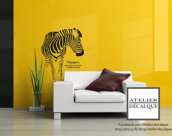 Wall decal no. MU- 003 - Zebra - Voyager This is born and die every moment.