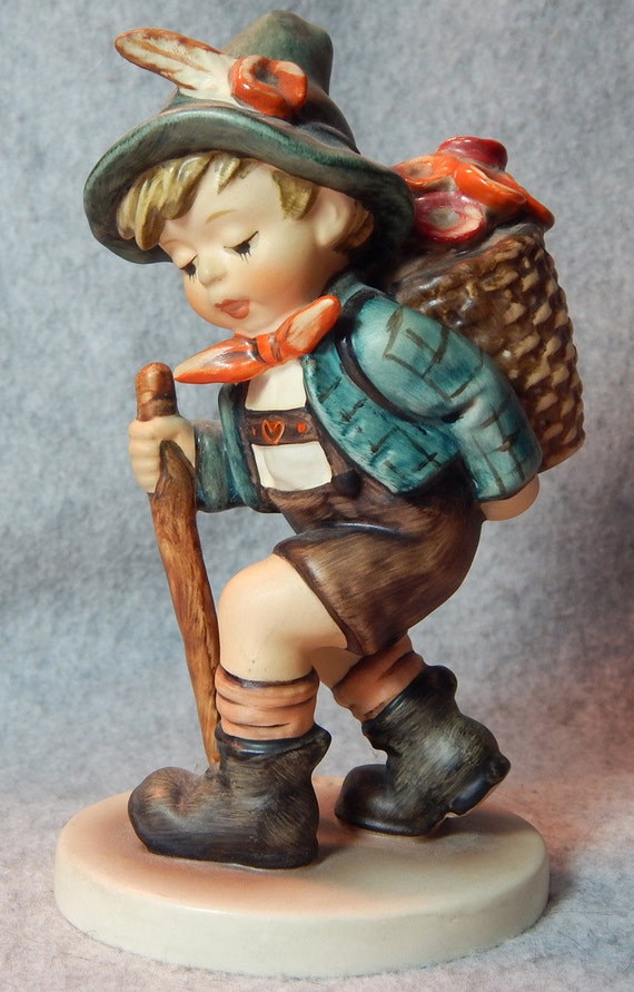 Hummel Figurine, Flower vendor, mold 381, TMK 6.