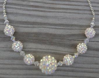 Disco Ball Crystal Necklace, Crystal Ball Neckace, Crystal Necklace, Ball Necklace