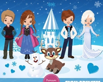 Frozen digital clipart, Frozen clipart, Frozen, Princess Clipart, Winter clipart, Winter princess, Princess clip art - CA210